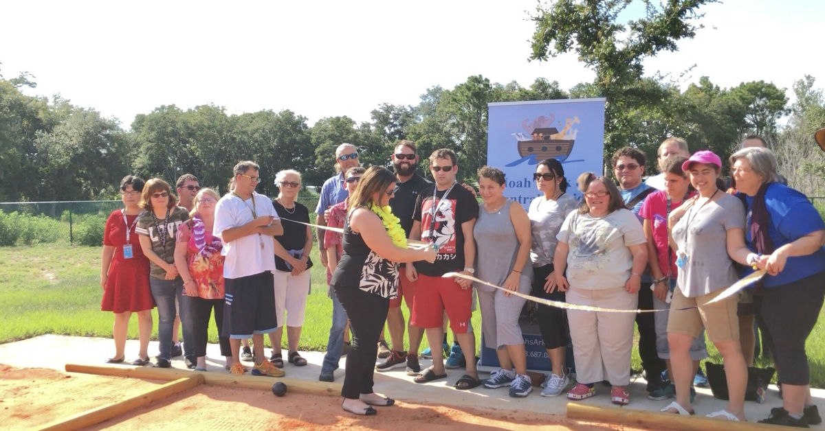 Esterline Landscape donates Bocce Courts