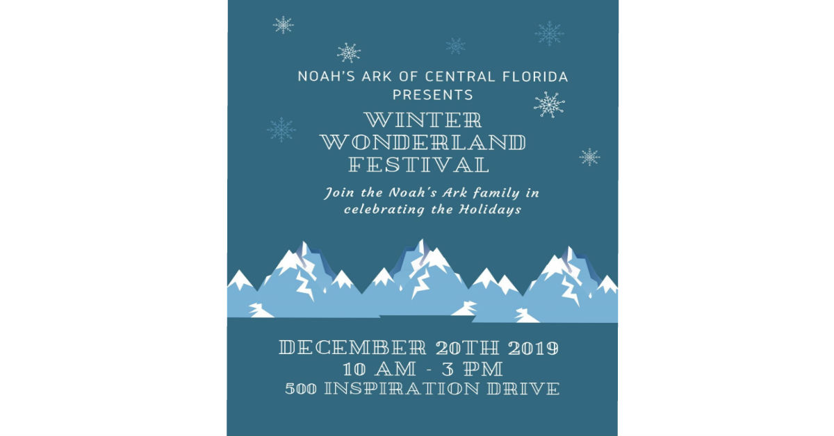 Join the Noah's Ark Family for a Winter Wonderland Festival…