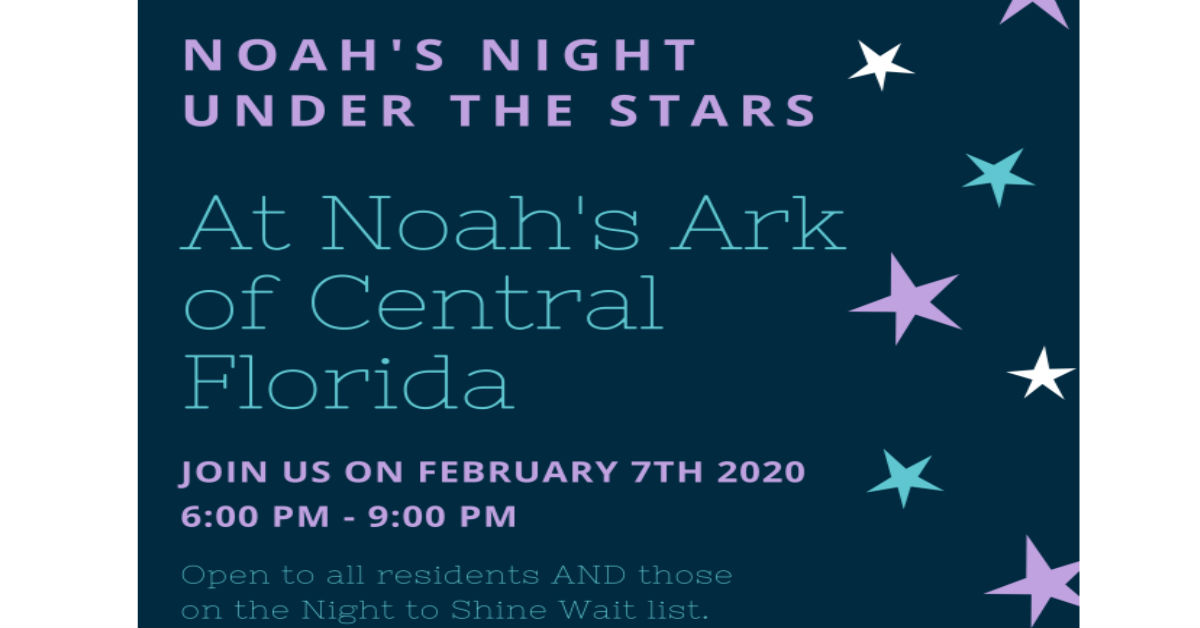 Noah's Night Under the Stars – Friday February 7th